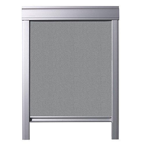 ITZALA Einfaches Verdunkelungsrollo für VELUX Dachfenster, M04, 304, MK34, M34, MK35, Grau