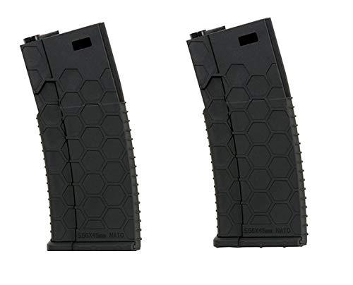 WG ZWEIERPACK - Polymer MID-Cap Magazin für M4 / AR-15, schwarz - Vorteilspack/Zweierpack Style 2