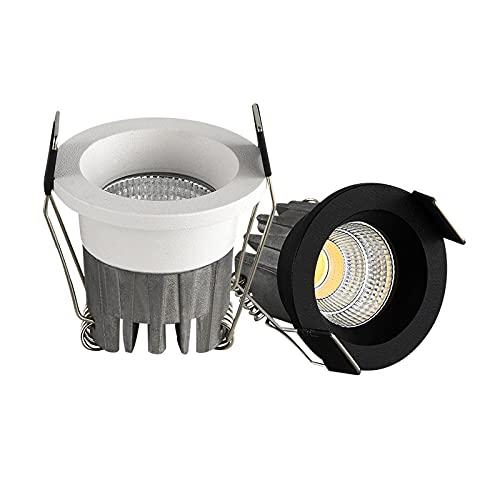 LONGWDS 10 PCS LED Mini Downlight bajo el gabinete Spot Light 3W para la lámpara empotrable del Techo AC85-265V Dimmable Luces con Conductor