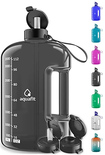1 Gallon Water Bottle With Time Marker - Large Water Bottle Gallon Water Bottle Motivational One Gallon Water Bottle With Straw 1 Gallon Water Jug With Time Marker 1 Gallon Big Water Bottle Gray