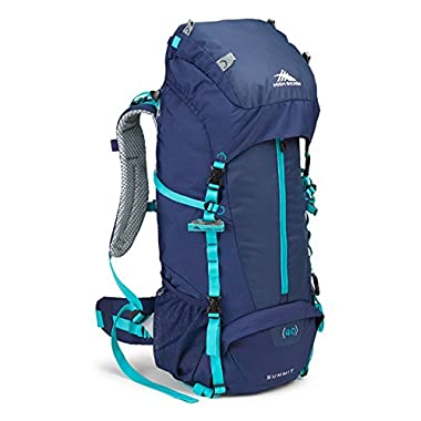 High Sierra Women's Summit 40L Top LoadBackpack Pack, High-Performance Pack for Backpacking, Hiking, Camping, with Rain Fly, True Navy/True Navy/Tropic Teal