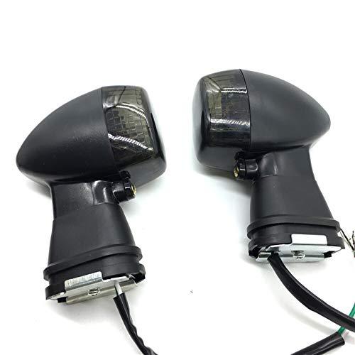 Luz de señal de Giro Delantera indicador para ZX600 Ninja ZX-6R ZX6R ZX-9R ZXR400 KLE 250/400/500 ZX900 ZX-7 ZX7R ZX12R (Color : Smoke)