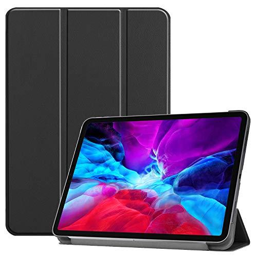Changjin - Funda rígida para iPad Pro de 12,9 pulgadas de 4ª generación 2020, ultra fina, ligera, con función atril para iPad Pro de 12,9 pulgadas Tablet 2020, color negro