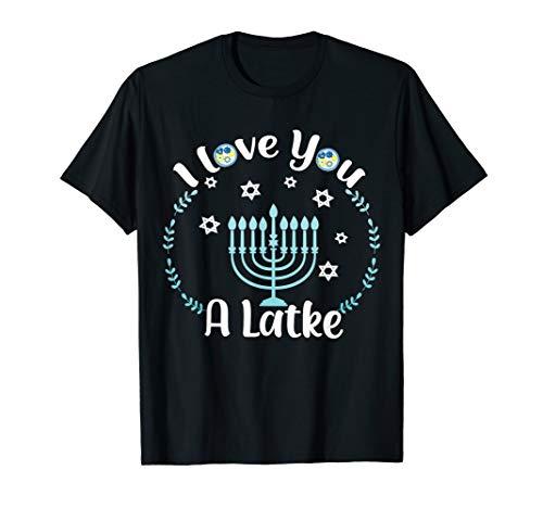 Hanukkah Gift Toddler Boy Girl Kids Chanukkah Love You Latke T-Shirt