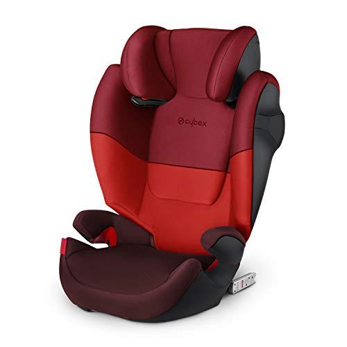 Cybex Silver Kinder-Autositz Solution M-Fix, Für Autos mit und ohne ISOFIX, Gruppe 2/3 (15-36 kg), Ab ca. 3 bis ca. 12 Jahre, Rumba Red