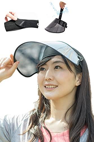 【 顔を清潔に保てる 触れる部分が洗える サンバイザー 】ずれない UPF50+ UVカット レディース uvカット