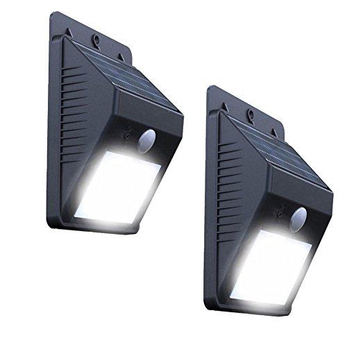 Lámparas solares para exteriores, 2 unidades, LED, detector de movimiento, lámparas solares para exterior, lámpara solar exterior con detector de movimiento, resistente al agua, para jardín