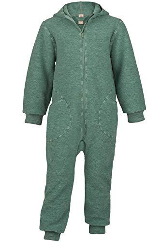 Disfraz de ángel con capucha y cremallera, 100% lana virgen (kbT) Jade Melange. 98/104 cm