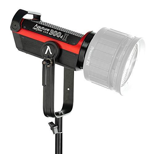 Aputure Torche LED COB LS C300D Lampe vidéo pour Studio, 48000 lux @ 0.5m, IRC ≥ 95 TLCI 96+