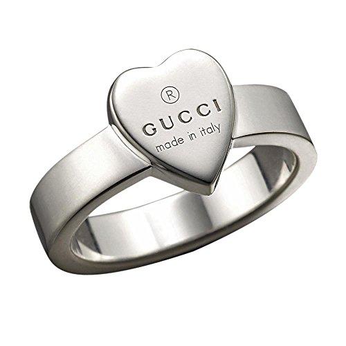 Gucci Damen-Ring mit graviertem Herz Sterlingsilber Gr.53 YBC22386700153