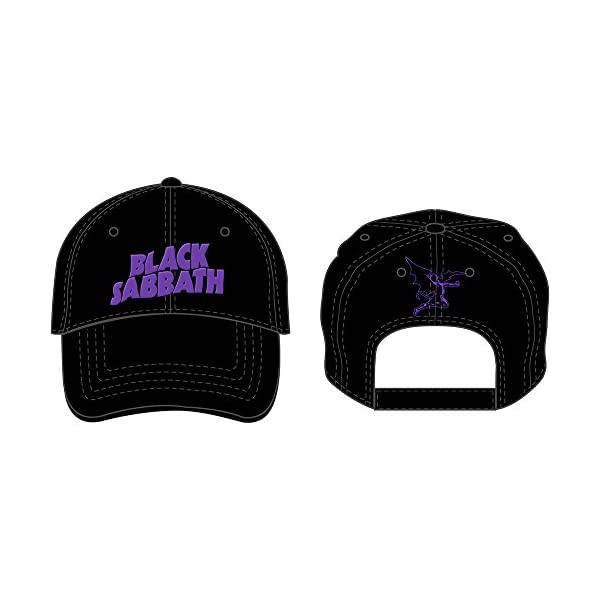 Rock Off Black Sabbath Embroidered Logo Mens Baseball Cap