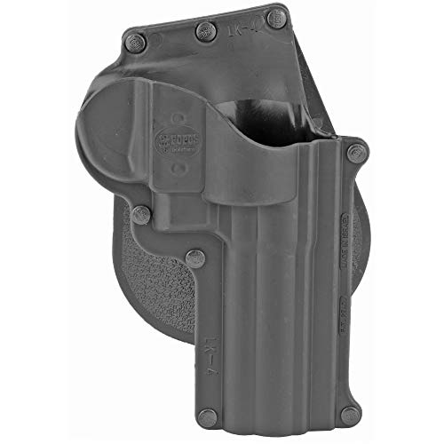 Fobus, Roto Paddle Holster, Fits Smith & Wesson 4' L/K Frame, Taurus 66/431/65, Right Hand, Kydex, Black