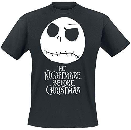 Nightmare Before Christmas L'Étrange Noël De Monsieur Jack Tête Jack Homme T-Shirt Manches Courtes Noir XXL
