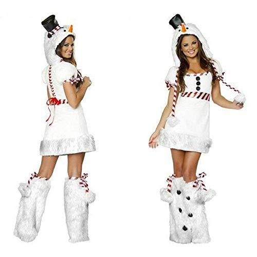NC Clásico muñeco de Nieve Blanco Cosplay Mujeres Disfraces de Navidad Mujeres Adultas Disfraces de Olaf