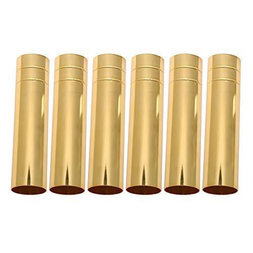 10 cm Höhe 2,5 cm Durchmesser Golden Zwei Linie Kronleuchter Kerzenlicht Abdeckung Hülse Socket Packung von 6 stück