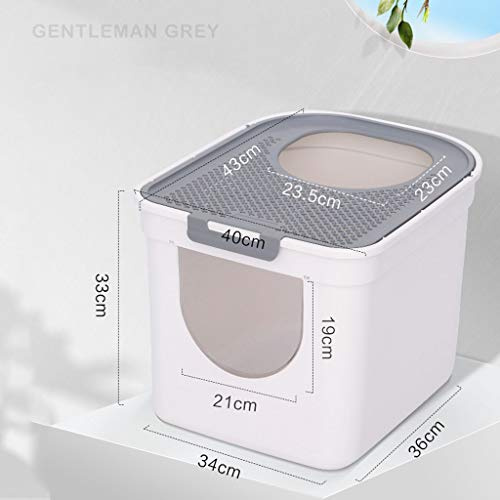Lightweight Dogs Cat Litter Box Self Cleaning,Anti-Splashing and Deodorizing Fully Enclosed Top Entry Best Self Cleaning Litter BoxSuitable for Cats Under 9 Pounds Cat Supplies cat Litter Box