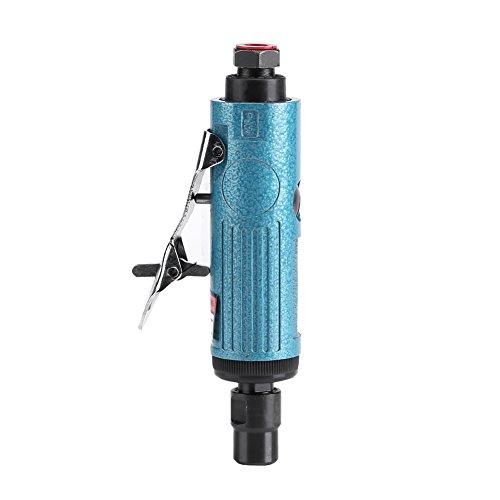 Acogedor Air De Grinder Kit luchtslijpmachine-kit, slijpsteen-bits 1/4 inch Ergonomische Low Noise Air sterven molen Mini Air de Grinder 23000 rpm 4CFM, set 5, splitter/blauw