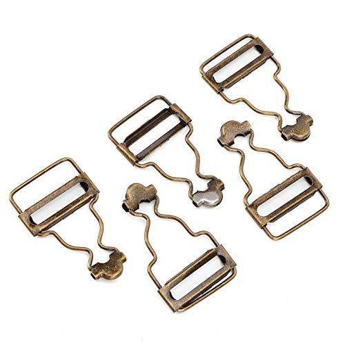 Voluxe Hebilla de Metal, Hebilla de Jeans Resistente a la corrosión, sin decoloración de Bronce Plateado Diseño Ajustable(Bronze Inner Diameter 2.7CM1 Set)