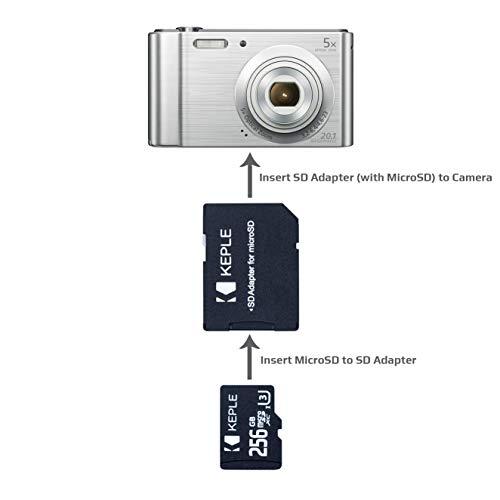 Tarjeta de Memoria MicroSD de 256GB Clase 10 Compatible con Canon ...