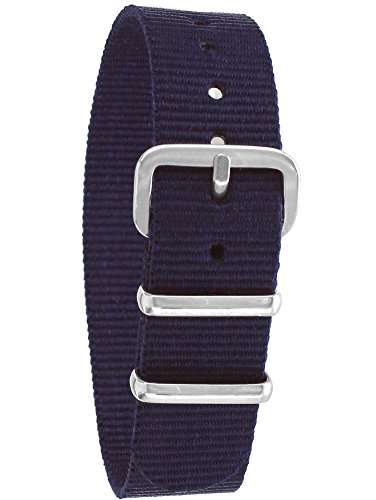 Pacific Time Unisex Nylon Uhrenarmband blau 10000