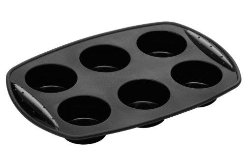Premier Housewares - Moule à Muffins en Silicone - 3 x 30 x 21 cm - Noir
