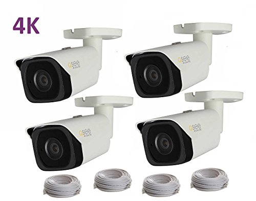 Q-See 4K (8MP) 4-Pack Camera IP Ultra-HD with H.265 (4X QCN8090B)
