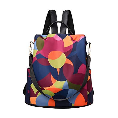 feiXIANG Zaino Donna in Oxford Daypack Ragazza Tracolla e Borsa a Mano Backpack Leggeri di Grande Capacità e Moda per Scuola Lavoro College e Viaggi, Zaini per Scuola