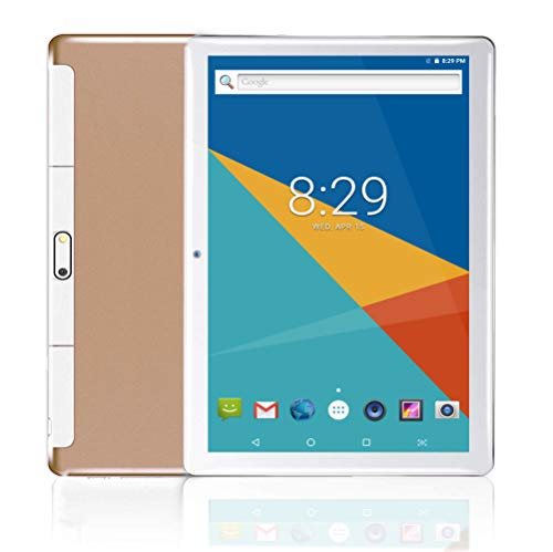 10 Tablet| 10.1' Inch Tablets PC Android 7.0,HD,3G, WiFi, GPS, GSM, Octa Core, 64GB 4GB, Dual Sim Card, 1920X1200 IPS, Gold