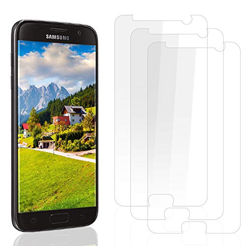 PUUDUU écran de Protection Samsung S7, [3 Pièces] Verre Trempé Samsung S7, Protection d'écran pour Samsung S7-0,33mm HD Ultra Transparent