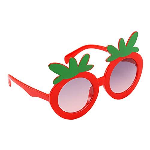 B Baosity Niños Gafas de Sol de Dibujos Animados de Fresa Gafas de Playa Gafas de Fiesta Accesorios - rojo, unico