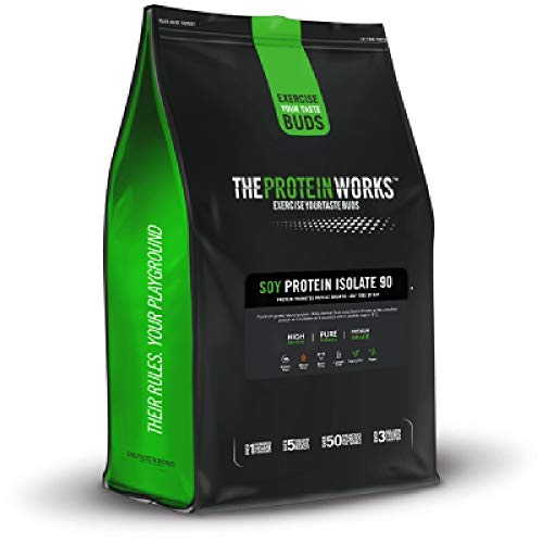 THE PROTEIN WORKS | Soy Protein 90 (Isolate) Protein Powder | 100% Plant-Based | Low Fat | No Added Sugar | Gluten-Free | Vanilla Crème | 1 kg