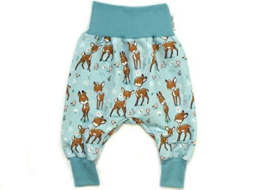 Kleine Könige Pumphose Baby Jungen Hose · Modell REH Bambi & Friends, Rauchblau · Ökotex 100 Zertifiziert · Größe 86/92