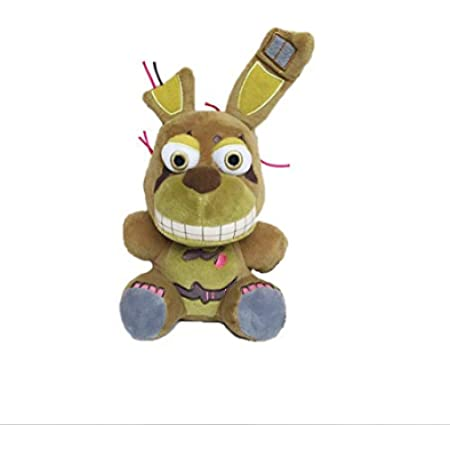 "FNAF Plushies - Full Characters(7"") - (Springtrap) -in Stock US- Five Nights Freddy's Plush: Chica, Springtrap, Bonnie, Marionette, Foxy Plush - Freddy Plush-FNAF Plush-Kid's Toy-Stuffed Animal"