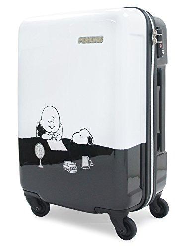 [スヌーピー] スーツケース ピーナッツ 機内持込可 28.5L 47cm 2.5kg PN-010 ホワイト