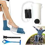 HERAHQ 3 en 1 calcetín Assist Usar Zapatos Aid Kit Calzador - Herramienta para minusválidos hasta Elder reemplazo de Cadera Media Deslizante ayudante Tire
