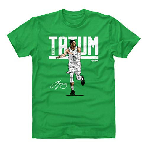 500 LEVEL Jayson Tatum Shirt (Cotton, Medium, Kelly Green) - Boston Men's Apparel - Jayson Tatum Hyper W WHT
