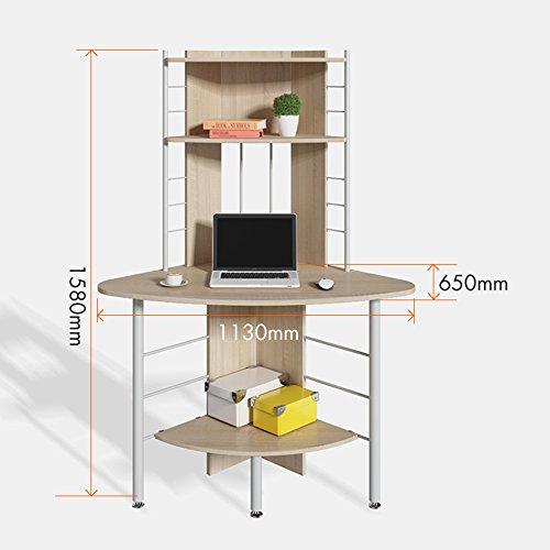 JU FU - Mesa esquinera Simple para Ordenador, estantería de ...
