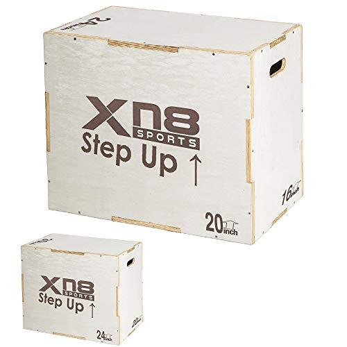 Xn8 Caja de Salto pliométrica- Pliometrico de Madera Caja - cajón para Saltos - Wood Plyobox Apta Gimnasio Profesional o Entrenamiento al Aire Libre y Plyo Ejercicio Agility Salto Vertical