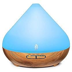 Aroma Diffuser 300ml TaoTronics Ultraschall Luftbefeuchter Diffusor Duftlampen BPA-Free Aromatherapie Humidifier für ätherische öle Raumbefeuchter für Kinderzimmer Schlafzimmer Raum Büro Yoga Spa