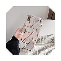 高級ダイヤモンドブレスレットパールソフトシリコン電話ケースFor iPhoneX XR XS MAX 6 6S 7 8 plus 11 Pro 12MiNiマーブルスプライシングカバー用-Only phone case-for iphone 8