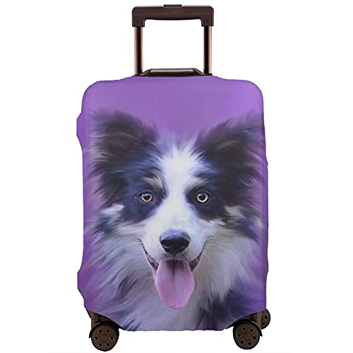 Cubierta de equipaje de viaje para perro bozal retrato maleta protector lavable fundas de equipaje