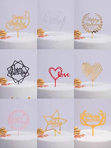 Moguxb Cake Toppers 10 PCS Acrilico Cupcake Topper decorazione per Torta di Compleanno per Baby Shower Festa di Compleanno Panifici