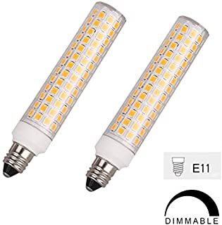 E11 LED Bulb, Mini Candelabra Base, 100W 120W Halogen Bulb Replacement,10W,1100LM, AC120V, Dimmable E11 LED Light Bulb, for Indoor Decorative Lighting, Warm White 3000K