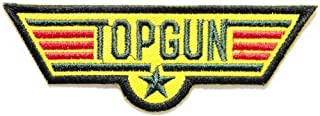 TOP GUN Pilot US USAF Air Force Tab army navy academy military us air force academy cavalry marine corps national guard logo Jacket Patch Sew Iron on Embroidered Sign Badge Costume
