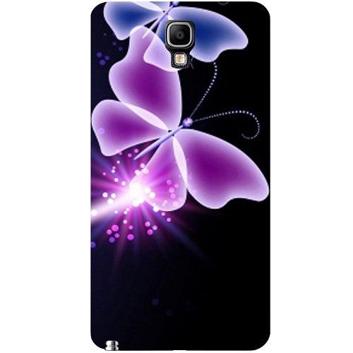 Casotec Neon farfalla, motivo astratto 'Shine-Cover posteriore rigida per Samsung Galaxy Note 3, Neo