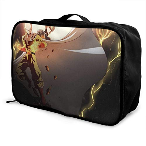 One Punch-Man Travel Lage Duffel Bag for Women Men Kids, Waterproof Large Bapa Caity Lightweight Suitcase Portable Bags