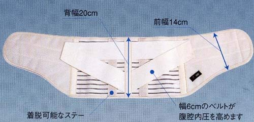 骨盤ベルトぎっくり腰さら~っとコルセット20cm巾腰部保護ベルト(M)