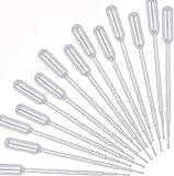 cococity 100 Pezzi Pasteur Pipetta Monouso, 1ml 3ml 5ml Pipetta Contagocce Trasferimento in Plastica, Dropper per Laboratoire