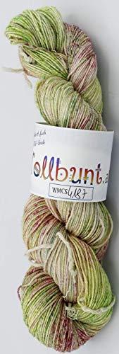 Handgefärbte 4-fach Wolle mit Maulbeerseide und Baumwolle, stricken, häkeln, Scoken, Sockenwolle