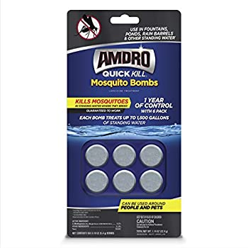 Amdro 100530552 Quick Kill Mosquito Bombs Shade Fabric with 90% UV Protection  6 x15   Rainforest
